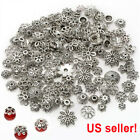 Wholesale Mixed Tibetan Silver Flower Bead Caps For Jewelry Making DIY USA
