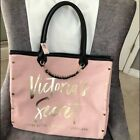 Victorias Secret City Tote Bag Pastel Pink Gold Lettering With Chain