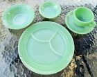 JADEITE FIRE KING RESTAURANT WARE 5 PIECE PLACE SETTING JADE-ITE