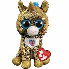 Ty Beanie Babies 36351 Flippables Regular Noble Unicorn with Union Jack UK