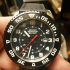 Wenger Swiss Military Black Dial Silicone Strap Men's Watch - 011341201C