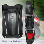 Motorcycle Backpack Carbon Fiber Motocross Riding Racing Storage Bag W Cover
