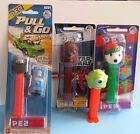 Lot of 4 Pez Dispensers***Star Wars, Christmas, Hot Wheels, Monsters Inc.***