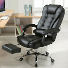 Office Rolling Computer Chair High Back Executive Desk Bonded Leather Chair New
