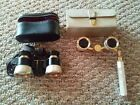 Vintage Mother of Pearl Opera Binoculars With Velvet Storage Bag
