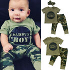 US Stock Camo Newborn Baby Boy Girl Camouflage T shirt Tops Pants Outfit Clothes
