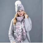 Winter Hats Scarf for Women's Beanie Wool Knitted Scarfs Sets Real Mink Fur Gift
