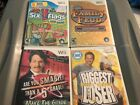 Nintendo Wii Lot of 4 games Six Flags Family Feud Biggest loser