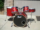VERY RARE PEARL SST VISION MAPLE SHELL CANDY APPLE RED GLASS SPARKLE DRUM SET