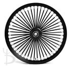 21x215 FRONT WHEEL NARROW GLIDE BLACK 48 FAT SPOKES SINGLE DISC HARLEY SPORTSTE