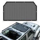 Front Eclipse Bikini Soft Top Mesh Cover UV Sun Shade Visor For Jeep Wrangler JL