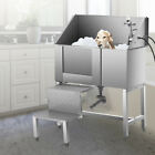 Professional Stainless Steel Pet Dog Cat Wash Shower Grooming Bath Tub 34