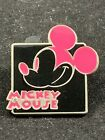 Disney Pin Mystery Expressions Smiling Dark Pink Mickey Mouse