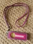COACH APPLE IPOD SHUFFLE CASE Long Strap Purple Pink Leather