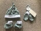 New Mamas and Papas Dinosaur Hat, Bootie And Gloves Set Newborn Gift Present