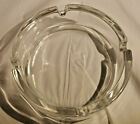 FRANCE ASHTRAY CLEAR GLASS HEAVY FRENCH ROUND