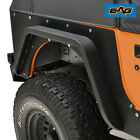 EAG Black Textured Rear Fender Flare Armor Kits Fit 1987 1996 Jeep Wrangler YJ