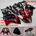 Red/Black ABS Fairing Bodywork Injection Kit For Suzuki Hayabusa GSX1300R 08-16