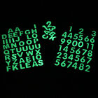 26 Pcs Glow in the Dark Numbers Luminous Stickers Letters Scrapbooking Diary DIY