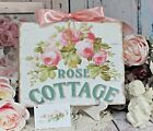 Shabby Chic Vintage French Cottage Style Wall Decor Sign Rose Cottage