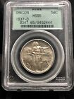 1937 D 50c Oregon Trail Half Dollar Commemorative PCGS MS65 Green Holder 1549a