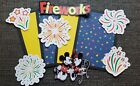 Disney fireworks scrapbook page set photo mats and die cuts set 538