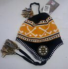 BOSTON BRUINS NWT BEANIE POM EMBROIDERED LOGO OFFICIAL NHL BLACK YELLOW NEW TAGS