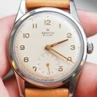 ZENITH PILOT 416 Small Second Manual Winding Vintage Watch 1950's Overhauled