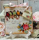 Shabby Chic Vintage Country Cottage style Wall Decor Sign Birds