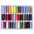 FT 39Pcs Mixed Colors 100 Polyester Sewing Thread Machine Hand 200 Yard Intrig