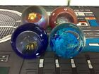GES Glass Eye Studio Celestial Series Paperweight Lot Of 4 Small Blemishes Pics