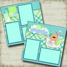 Tiny Bubbles Boy Baby 2 Premade Scrapbook Pages EZ Layout 4188