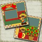 Apple Picking 2 Premade Scrapbook Pages EZ Layout 4144