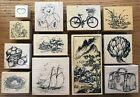 YOU PICK PSX Assorted Wood Mounted Rubber Stamps SUMMERFOODSCENICVINTAGE