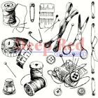 Deep Red Stamps Sewing Notion Rubber Cling Stamp