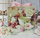 Shabby Chic Vintage Country Cottage style Wall Decor Sign Teacup