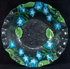Fused Art Glass Bowl ANN C ROSS Cape Cod MORNING GLORY Signed NEW