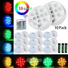 13 LED Submersible Multi Color Waterproof Wedding Party Vase Base Light  Remote