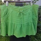 Juicy Couture Green Linen Skirt - M