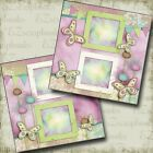 Love Spring 2 Premade Scrapbook Pages EZ Layout 3896