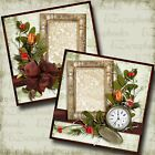 Christmas Memories 2 Premade Scrapbook Pages EZ Layout 4192