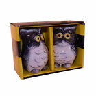 Vintage Collection Ceramic Funny Owl Salt  Pepper Set of 2 With Gift Box