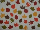 40 Autumn leaves 8 different design scrapbooking diecuts greeting card diecut