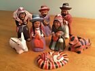 Christmas Nativity Creche - Central or South America - 8 Piece SET CLAY Pottery