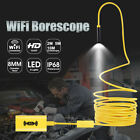 For Ios Android Pc 8led Wifi Endoscope Borescope Inspection Hd 1200p Camera Ip68