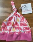 NWT HANNA ANDERSSON Snug As A Bug Beanie Hat PINK TRIANGLES S SMALL 1 2 3 years