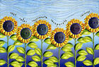 Pictura Rest Relax Rejuvenate Field of Sunflowers Two Twenty Two Get Well Card