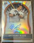 2011 Topps Finest Anthony Rizzo RC Auto Refractor #015 499