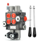 2 Handle Mount Spool Hydraulic Control Valve 13 GPM 50 ml min Double Acting