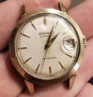 Vintage Mens Movado Movascope 2292 14K Yellow Gold Filled Automatic Date Watch
